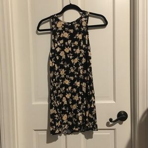 Forever 21 black with yellow flower dress